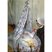 Pôster Decorativo A4 Jean Monet in the Craddle - Claude Monet Cosi Dimora