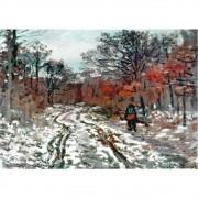 Pôster Decorativo A4 Path Through the Forest Snow Effect - Claude Monet Cosi Dimora