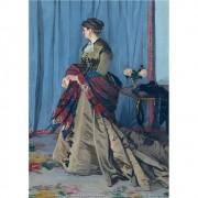 Pôster Decorativo A4 Portrait of Madame Gaudibert - Claude Monet Cosi Dimora