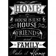 Pôster Decorativo A4 Quadro Negro House x Home Cosi Dimora