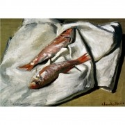 Pôster Decorativo A4 Red Mullets - Claude Monet Cosi Dimora