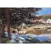 Pôster Decorativo A4 River Scene at Bennecourt - Claude Monet Cosi Dimora