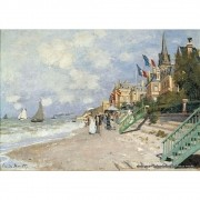 Pôster Decorativo A4 The Boardwalk on the Beach at Trouville - Claude Monet Cosi Dimora
