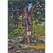 Pôster Decorativo A4 The Bodmer Oak - Claude Monet Cosi Dimora