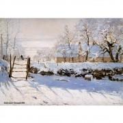 Pôster Decorativo A4 The Magpie 1869 - Claude Monet Cosi Dimora