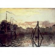 Pôster Decorativo A4 The Port at Zaandam - Claude Monet Cosi Dimora