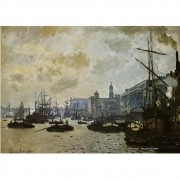 Pôster Decorativo A4 The Port of London - Claude Monet Cosi Dimora