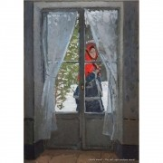 Pôster Decorativo A4 The Red Cape Madame Monet - Claude Monet Cosi Dimora