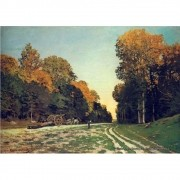 Pôster Decorativo A4 The Road From Chailly to Fontainebleau - Claude Monet Cosi Dimora