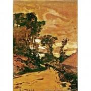 Pôster Decorativo A4 The Road to the Farm of Saint Simeon - Claude Monet Cosi Dimora
