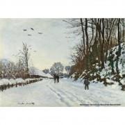 Pôster Decorativo A4 The Road to the Farm of Saint Simeon in Winter - Claude Monet Cosi Dimora