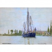 Pôster Decorativo A4 The Sailing Boat - Claude Monet Cosi Dimora