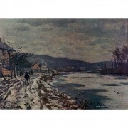 Pôster Decorativo A4 The Seine at Bougival - Claude Monet Cosi Dimora