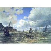 Pôster Decorativo A4 The Seine Estuary at Honfluer - Claude Monet Cosi Dimora