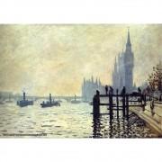 Pôster Decorativo A4 The Thames Below Westminster 1871 - Claude Monet Cosi Dimora