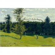 Pôster Decorativo A4 The Train in the Country - Claude Monet Cosi Dimora