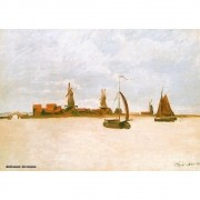 Pôster Decorativo A4 The Voorzaan - Claude Monet Cosi Dimora