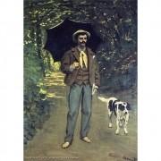 Pôster Decorativo A4 Victor Jacquemont Holding a Parasol - Claude Monet Cosi Dimora