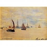 Pôster Decorativo A4 View of the Voorzaan 1871 - Claude Monet Cosi Dimora