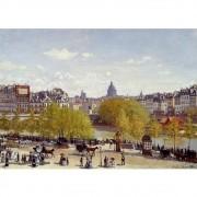 Pôster Decorativo A4 Wharf of Louvre Paris 1867 - Claude Monet Cosi Dimora