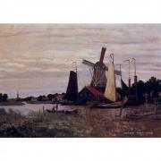 Pôster Decorativo A4 Windmill at Zaandam 1 - Claude Monet Cosi Dimora
