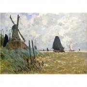 Pôster Decorativo A4 Windmill Near Zaandam - Claude Monet Cosi Dimora