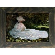 Quadro Decorativo A4 A Woman Reading - Claude Monet Cosi Dimora