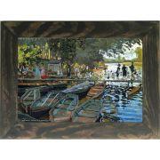 Quadro Decorativo A4 Bathers at la Grenouillere 1869 - Claude Monet Cosi Dimora