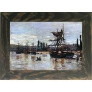 Quadro Decorativo A4 Boats at Rouen - Claude Monet Cosi Dimora