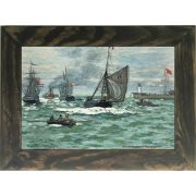 Quadro Decorativo A4 Entrance to the Port of Honfleur - Claude Monet Cosi Dimora
