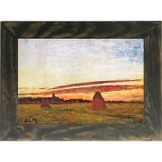Quadro Decorativo A4 Haystacks at Chailly 1865 - Claude Monet Cosi Dimora