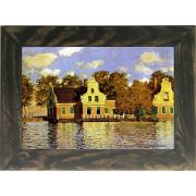 Quadro Decorativo A4 Houses on the Zaan River at Zaandam - Claude Monet Cosi Dimora