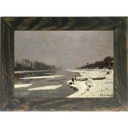 Quadro Decorativo A4 Ice Floes on the Seine at Bougival 1868 - Claude Monet Cosi Dimora