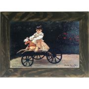 Quadro Decorativo A4 Jean Monet on a Mechanical Horse 1872 - Claude Monet Cosi Dimora