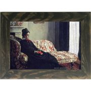 Quadro Decorativo A4 Meditation Madame Monet Sitting on a Sofa 1871 - Claude Monet Cosi Dimora