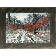 Quadro Decorativo A4 Path Through the Forest Snow Effect - Claude Monet Cosi Dimora