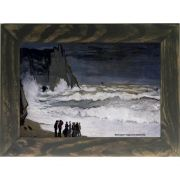 Quadro Decorativo A4 Rough Sea at Etretat 1869 - Claude Monet Cosi Dimora