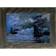 Quadro Decorativo A4 Seascape Night Effect - Claude Monet Cosi Dimora