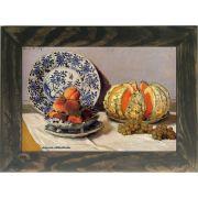 Quadro Decorativo A4 Still Life With Melon - Claude Monet Cosi Dimora