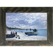 Quadro Decorativo A4 The Beach at Sainte Adresse - Claude Monet Cosi Dimora