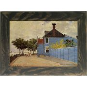 Quadro Decorativo A4 The Blue House at Zaandam - Claude Monet Cosi Dimora