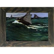 Quadro Decorativo A4 The Green Wave - Claude Monet Cosi Dimora
