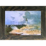 Quadro Decorativo A4 The Jetty at Le Havre 1868 - Claude Monet Cosi Dimora