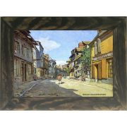 Quadro Decorativo A4 The La Rue Bavolle at Honfleur - Claude Monet Cosi Dimora