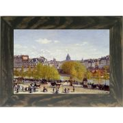 Quadro Decorativo A4 Wharf of Louvre Paris 1867 - Claude Monet Cosi Dimora