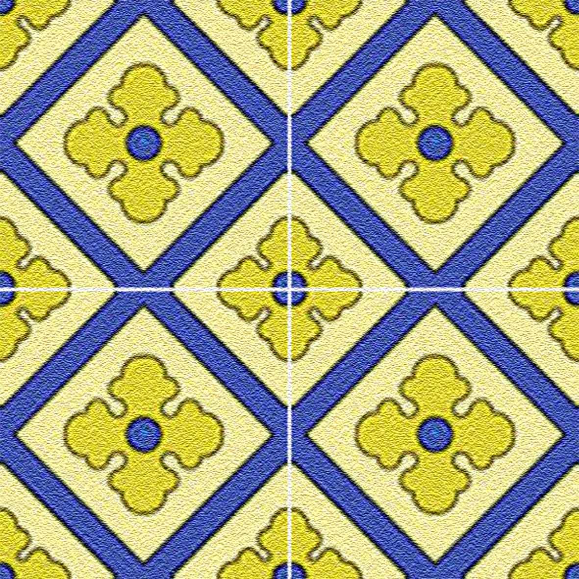Adesivo para Azulejo Ladrilho Hidráulico Gijón Vinil 15x15cm 16 peças Cosi Dimora