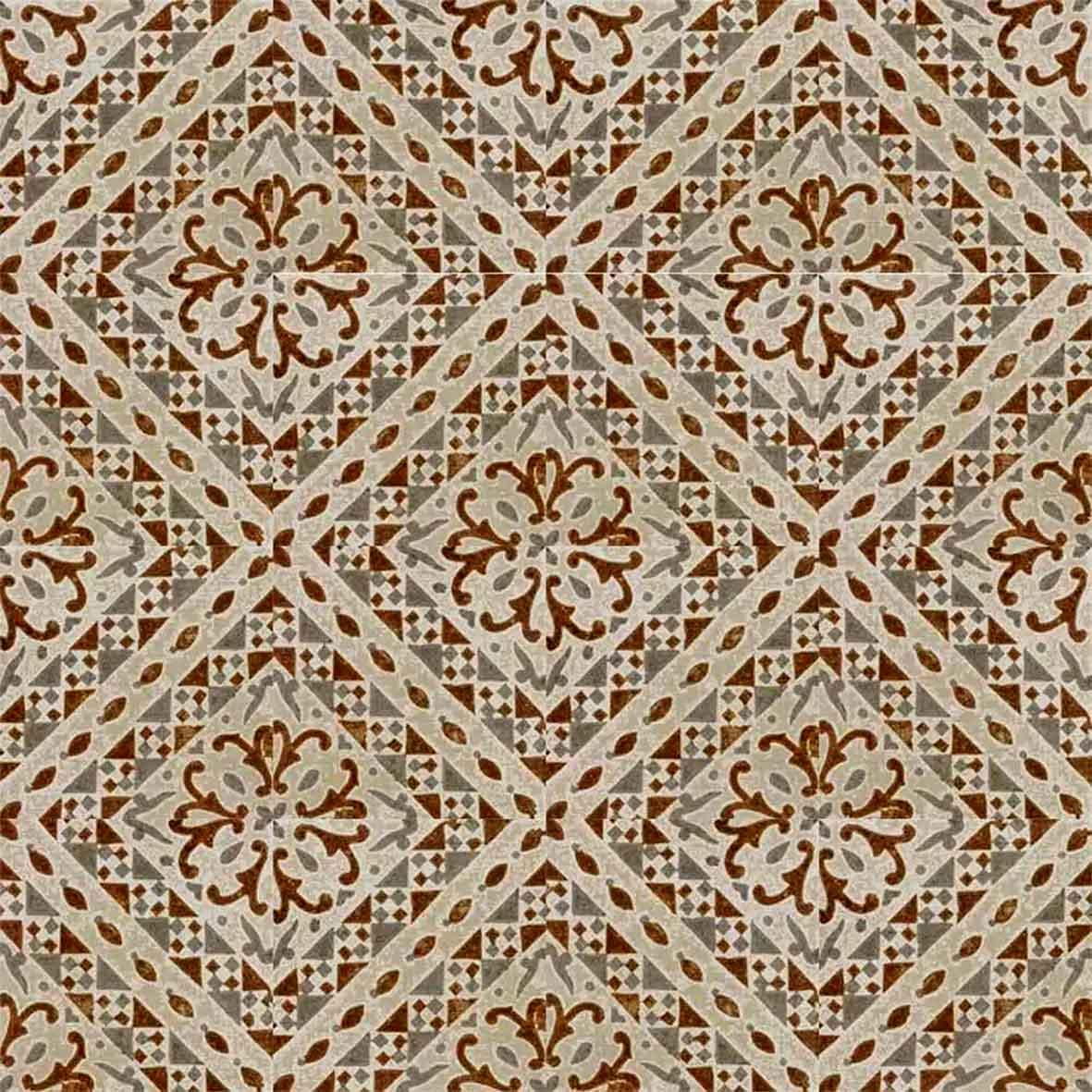 Adesivo para Azulejo Ladrilho Hidráulico Guadalupe Vinil 15x15cm 16 peças Cosi Dimora