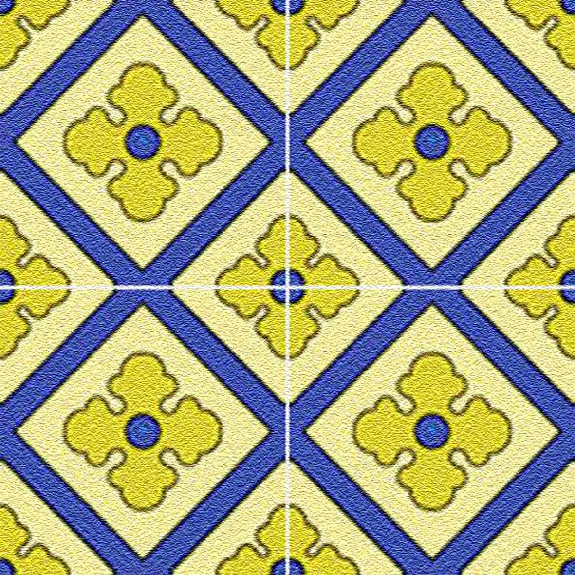 Adesivo para Azulejo Ladrilho Hidráulico Mosaico Moderno Vinil 15x15cm 16 peças Cosi Dimora
