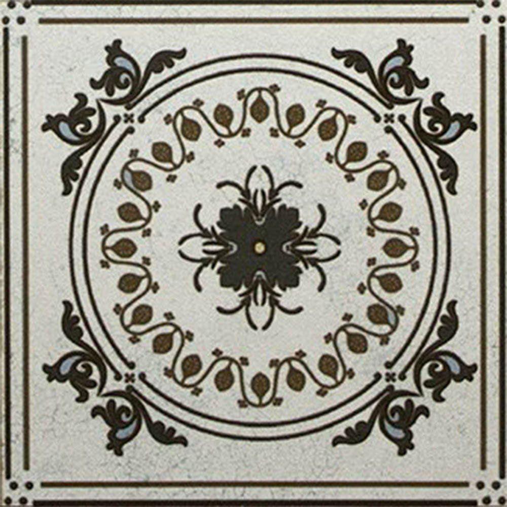 Adesivo para Azulejo Ladrilho Hidráulico Mosaico Tons de Cinza Vinil 15x15cm 16 peças Cosi Dimora
