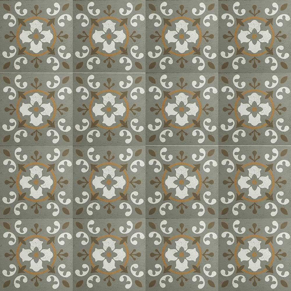 Adesivo para Azulejo Ladrilho Hidráulico Sevilha Vinil 15x15cm 16 peças Cosi Dimora